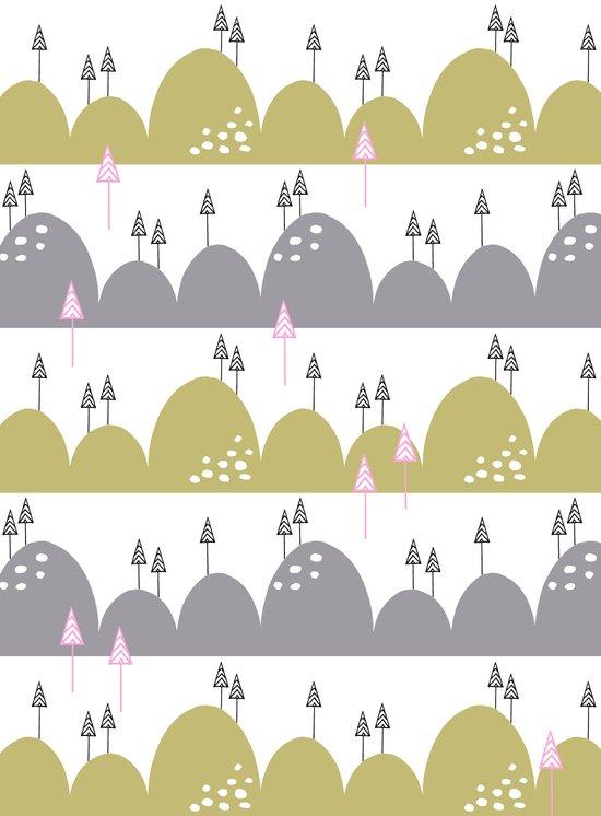 Hills and trees Art Print