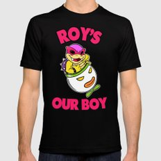 SUPER SMASH BROS: Roy's Our Boy! SMALL Black Mens Fitted Tee