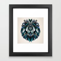 Blue Lion Framed Art Print