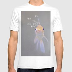 You looking at me, fishy?  White Mens Fitted Tee SMALL