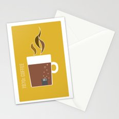 70s Coffee Stationery Cards