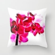 Fractalius pink orchid Throw Pillow