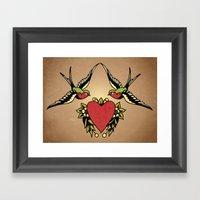 Swallows Framed Art Print