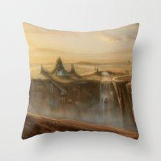 Canion Village Fantasy Landscape Throw Pillow