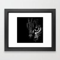 Feline Look Framed Art Print