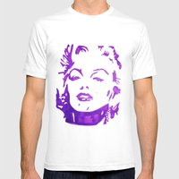 Marliyn Monroe  Mens Fitted Tee White SMALL