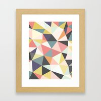 Deco Tris Framed Art Print