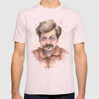 Swanson Love Valentine P… Mens Fitted Tee Light Pink SMALL