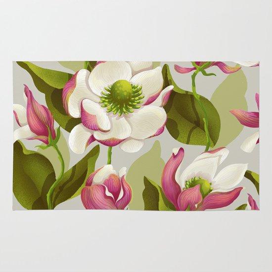 magnolia bloom - daytime version Area & Throw Rug