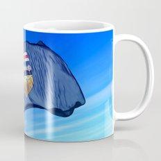 Alberta (Canada) flag waving on the wind Mug