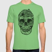 Skull Island Mens Fitted Tee Grass SMALL