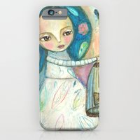 Free to fly - girl and birds iPhone 6 Slim Case