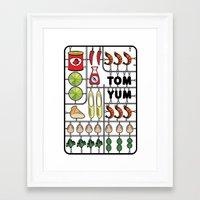 Tom Yum Assembly Kit Framed Art Print
