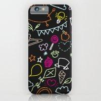 chalkboard doodles iPhone 6 Slim Case