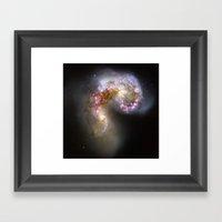 Antennae Galaxies Framed Art Print