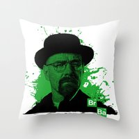 Breaking Bad Green Throw Pillow