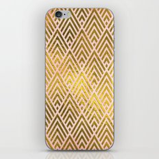 Gold foil triangles on pink  iPhone & iPod Skin
