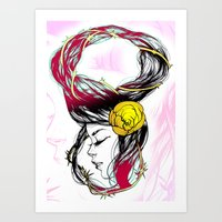 Rose Thorn Art Print