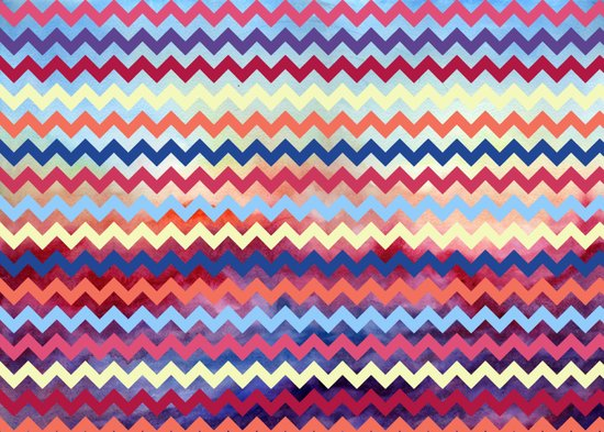 Watercolor Chevron II Art Print