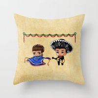 Mexican Chibis Throw Pillow