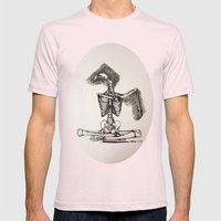 Mixed Media Drawing : Me… Mens Fitted Tee Light Pink SMALL