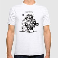 Ontok the Meaty Mens Fitted Tee Ash Grey SMALL