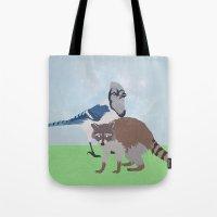 Mordecai and Rigby Tote Bag