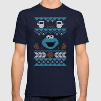 C is for Cookie! Mens Fitted Tee Navy SMALL