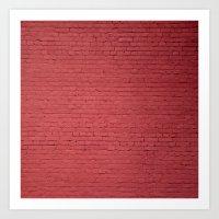 Red Bricks Wall6473 Art Print