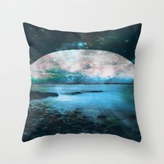 Mystic Lake Blue Green Throw Pillow