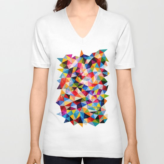 Space Shapes V-neck T-shirt