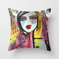 Art Darling Throw Pillow