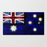 circuit board australia (flag) Canvas Print