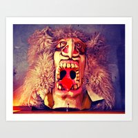 Stonegate Mask Art Print