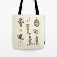 Numbers, Animals And Num… Tote Bag