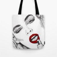 LIPSTICK GIRL Tote Bag