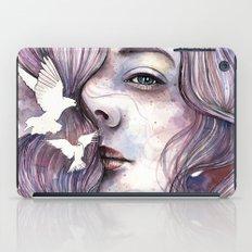 Dreams of freedom, watercolor artwork iPad Case