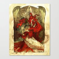 Masque Of The Red Death Canvas Print