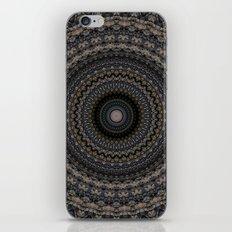 Mandala in grey and violet tones iPhone & iPod Skin