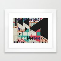 play stop pause rewind Framed Art Print