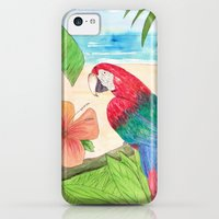 iPhone 5c Cases featuring Parrot Beach by Catherine Holcombe