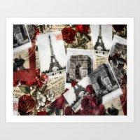Postcards from Paris Art Print