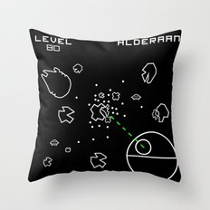 Retro Star Wars Arcade Alderaan Asteroids Throw Pillow