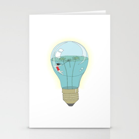 Life in a lightbulb. Day Stationery Card