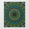 Peacock Abstract Canvas Print