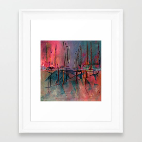 imaginary distances Framed Art Print