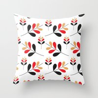 Fall Bloom Throw Pillow