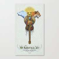 WE GOVERN WE // lionsandtigersandbears Canvas Print