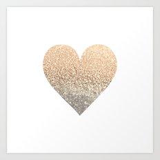 GOLD HEART Art Print