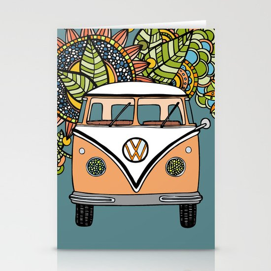VW bus Stationery Card